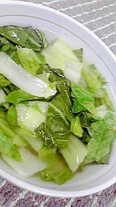 大阪白菜でスープ