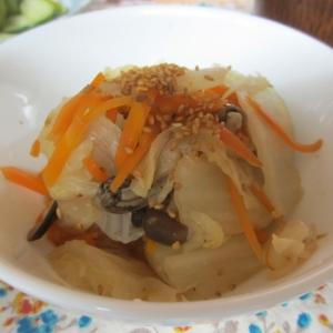 白菜としめじのポン酢煮