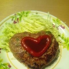 かわいいハンバーグの形成♪