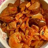 茄子の豚キム炒め