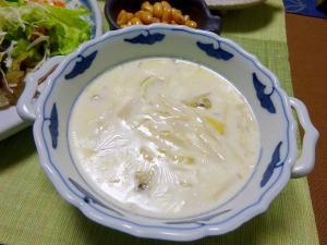 15分で~あっさりだけどこくのある白いスープ