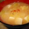 キャベツとじゃがいもの味噌汁