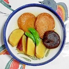 さつま芋とさつま揚げの煮物