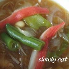 大豆、春雨の中華スープ