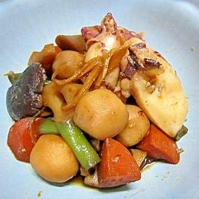 イカの根菜煮