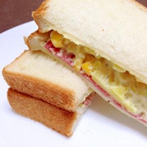ポテトサラダで☆ポテサラハムサンド