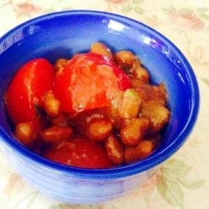 ヘルシー❤︎バルサミコ酢とトマト納豆