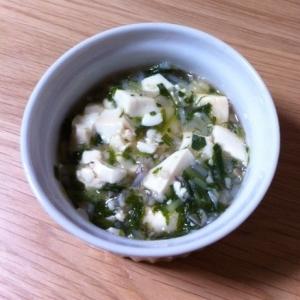 離乳食後期♪水菜&もやし&豆腐の味噌煮☆