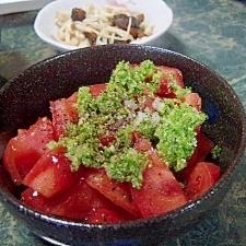 食感が楽しい☆ブロッコリードレッシングトマトサラダ