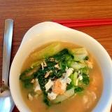ロメインレタスと卵の中華スープ