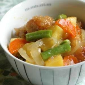 鶏のからあげとサツマイモのうま煮