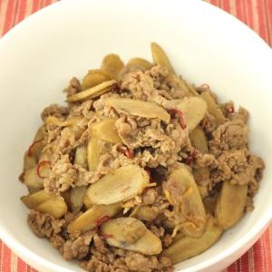 簡単!牛肉とごぼうの炒め煮