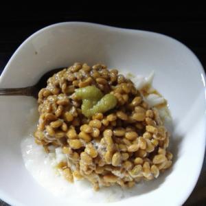 納豆と長芋のサクサク