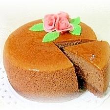 軽いのに濃厚♪ココアスフレチーズケーキ