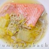 トラウトサーモンと白菜のスープ煮