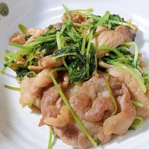 焼き肉のタレで豆苗と豚こまの炒め物