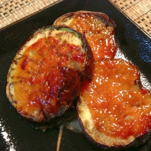水茄子のにんにく味噌焼き