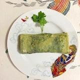 わさび菜、豆苗の卵焼き