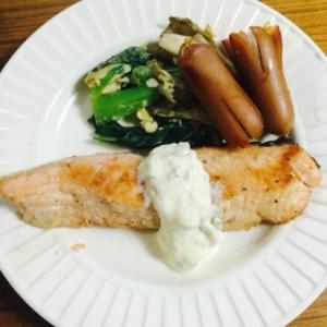 ピクルスたっぷり!鮭のタルタルソース