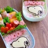 簡単海苔アート☆キャラ弁 スヌーピーのお弁当♪