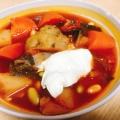ロシアの家庭調理♪ボルシチ~カブのスープ