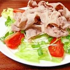 野菜たっぷり!簡単♪豚しゃぶサラダ