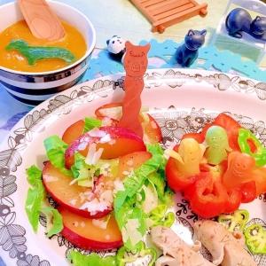 貴陽プラムとレタスのスッキリ大人サラダ