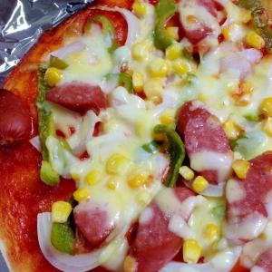 子どもが喜ぶ☆ウインナーピザ
