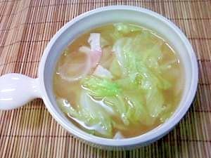 しゃきしゃき、レタススープ