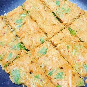 キムチと青梗菜のチヂミ