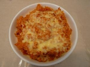 男の簡単!チーズケチャップライス