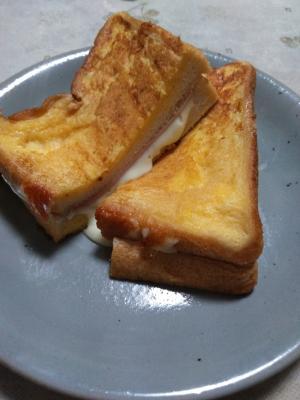 ハムチーズのフレンチトースト