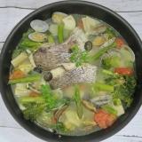 鯛の切り身と春野菜 de 簡単アクアパッツァ