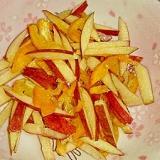 金柑とりんごの皮のハチミツレモンサラダ‼
