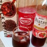 赤ワインアレンジ♪ブラックコーヒーと無糖炭酸水