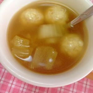 肉団子と野菜のコンソメ生姜スープ
