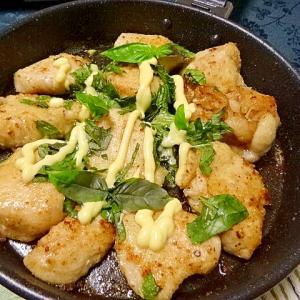 10分で..バジル香る鶏フワマヨ焼き