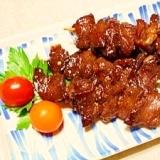 牛ハツ串☆ニンニク醤油