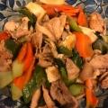 簡単!うま♡豚肉とちんげん菜と油揚げの中華炒め♡