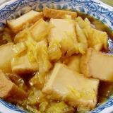 厚揚げと白菜の煮物