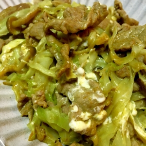 【無塩レシピ】豚肉とキャベツの炒め