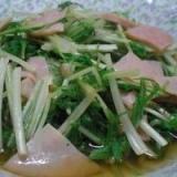 柔らかく食べれる「水菜のお浸し」   ♪♪