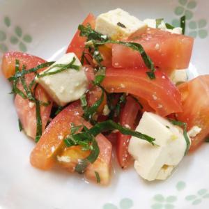 とうふ・大葉・トマトの和風サラダ