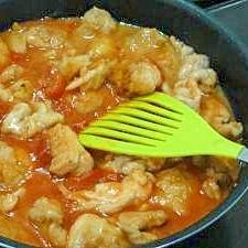 とってもジューシーな鶏肉のトマト煮