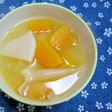 かぼちゃとかぶとたまねぎの味噌汁