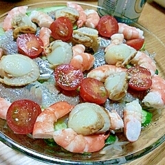 パーティ&おもてなし♪魚貝のカルパッチョ
