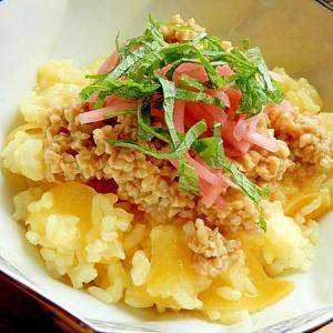 ひきわり納豆❤つぼ漬けで煮込む粥♪(ご飯少なめ)
