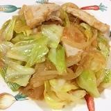 鶏ムネ肉とキャベツ、玉葱の炒め物