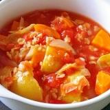 オートミールトマトスープ