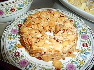 クリームチーズのアーモンドケーキ風